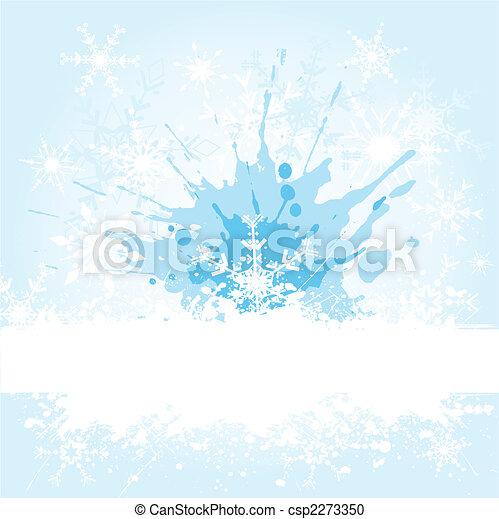 grunge, flocon de neige - csp2273350