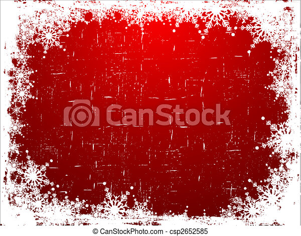grunge, flocon de neige, fond - csp2652585