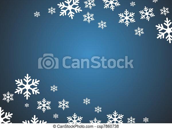 grunge, flocon de neige, fond - csp7860738