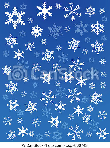 grunge, flocon de neige, fond - csp7860743