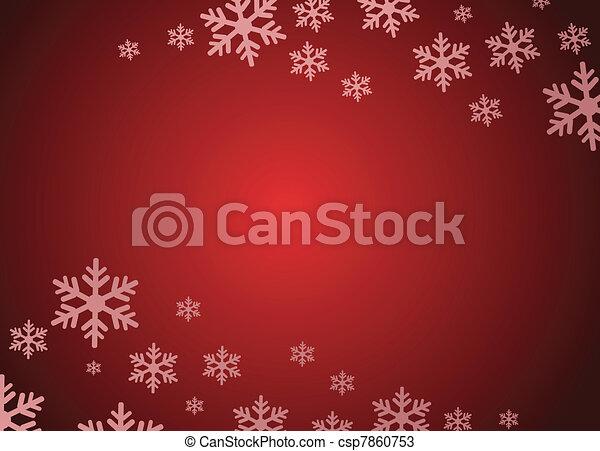 grunge, flocon de neige, fond - csp7860753