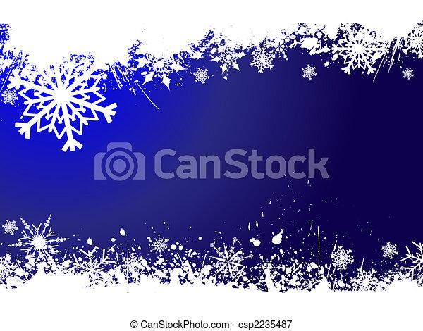 grunge, flocons neige - csp2235487
