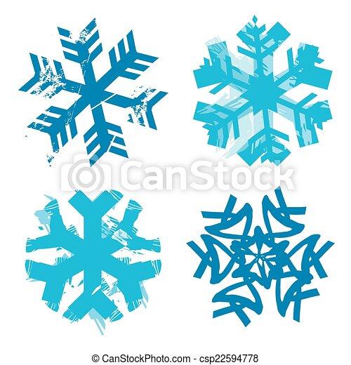 grunge, flocons neige - csp22594778
