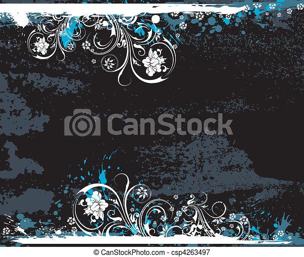 Grunge floral background - csp4263497