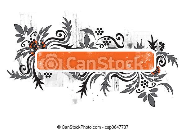 grunge floral - csp0647737