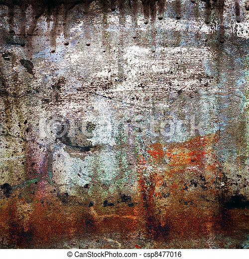 grunge, fond, rusty-colored - csp8477016