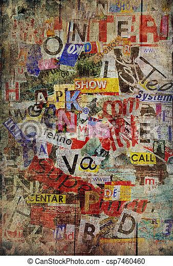 grunge, fond, textured - csp7460460