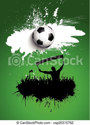 Grunge football / soccer crowd background - csp20315762