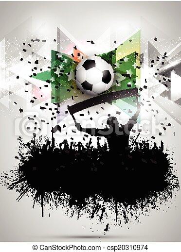 Grunge football / soccer crowd background - csp20310974