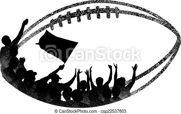 grunge football with fans inside illustration is a grunge vector rh canstockphoto com grunge vector free download grunge vector texture