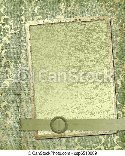 Grunge frame for greeting or congratulations - csp6510009
