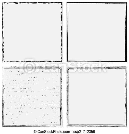 Grunge Frame Set - csp21712356