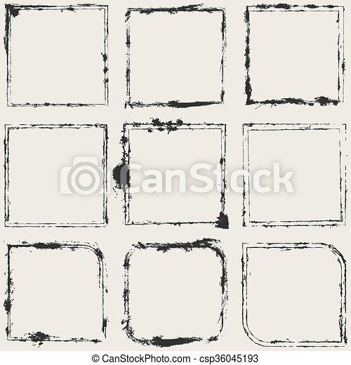 Grunge Frame Set - csp36045193
