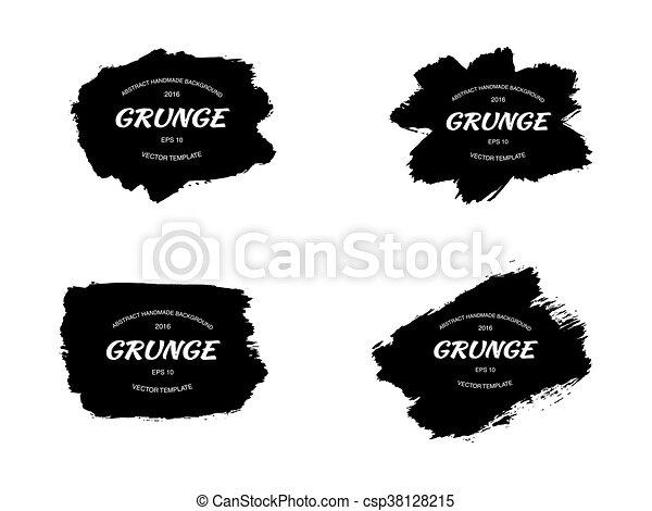 Grunge frame set. vector - csp38128215
