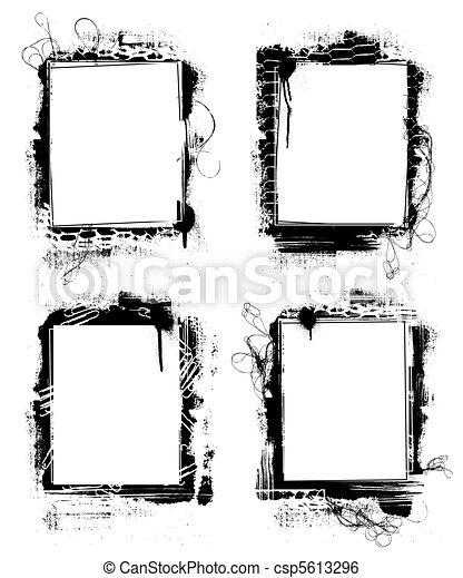 grunge frames - csp5613296