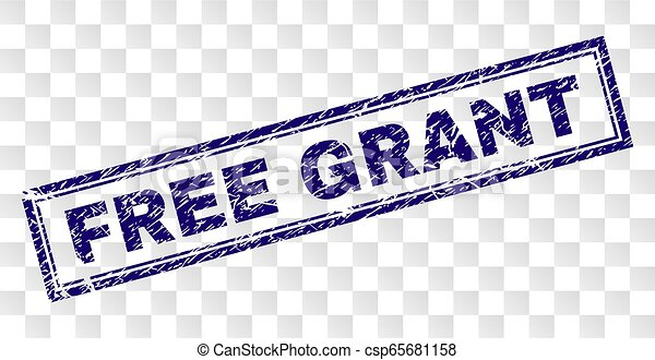 Grunge FREE GRANT Rectangle Stamp - csp65681158
