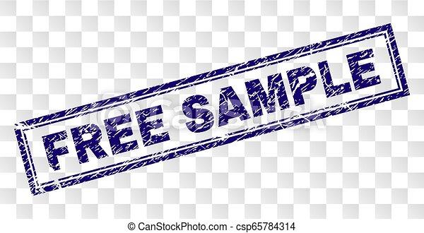 Grunge FREE SAMPLE Rectangle Stamp - csp65784314