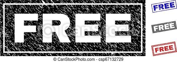 Grunge FREE Textured Rectangle Watermarks - csp67132729