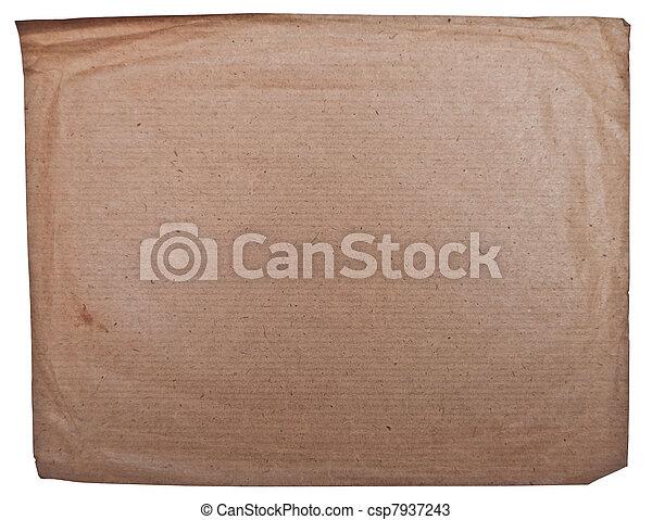 grunge, freigestellt, papier, altes , weißes, leerer  - csp7937243