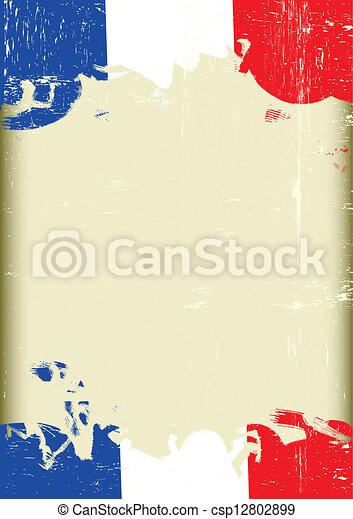 Grunge french flag - csp12802899