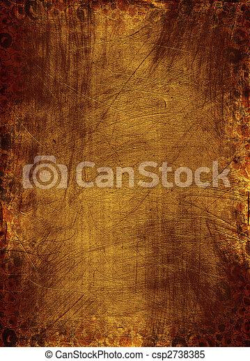 grunge, fundo, textura - csp2738385