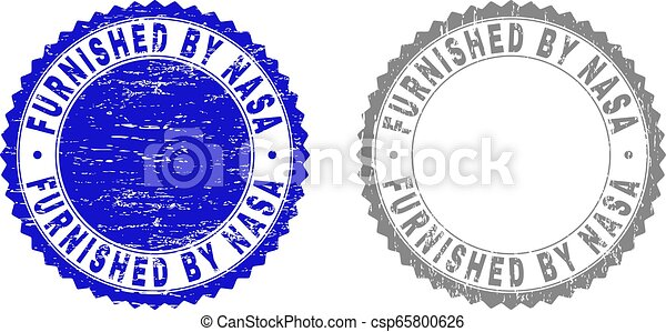 Grunge FURNISHED BY NASA Textured Stamps - csp65800626