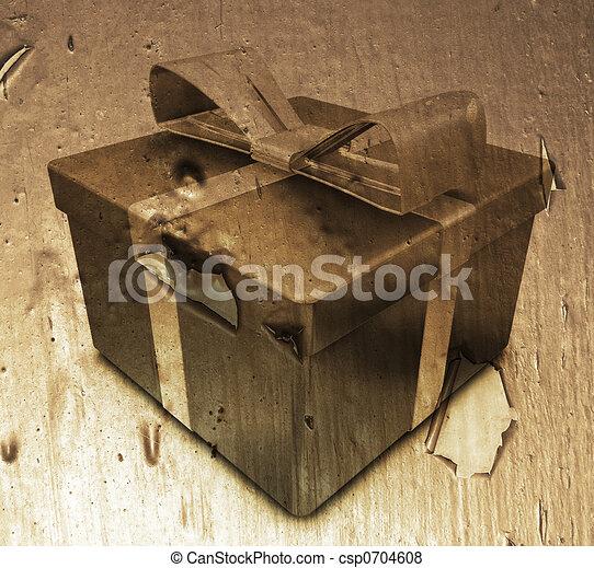 Grunge gift - csp0704608