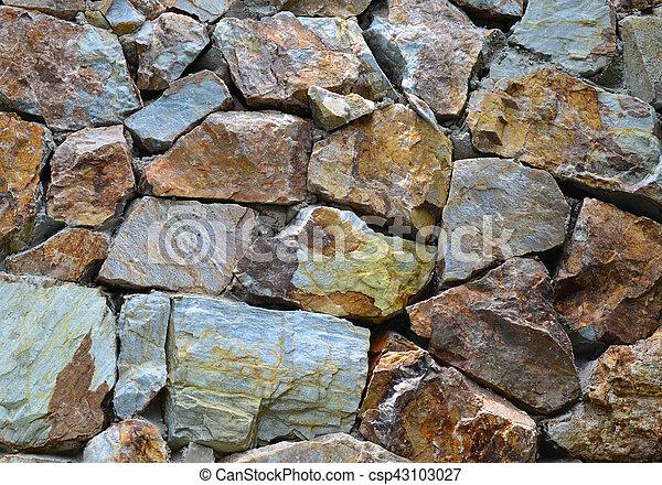 Grunge granite stone wall - csp43103027