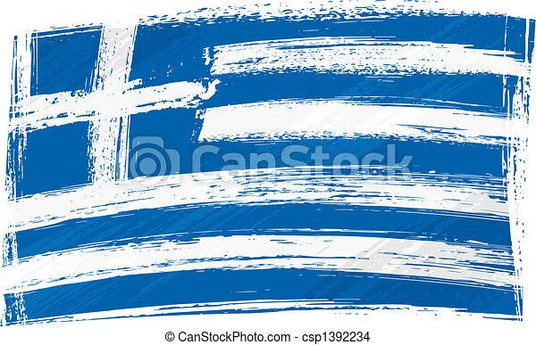 Grunge Greece flag - csp1392234