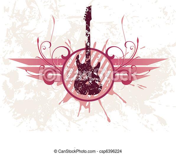 Grunge guitar - csp6396224