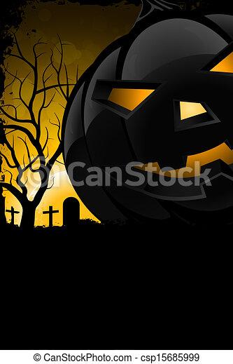 grunge, halloween, bakgrund, parti - csp15685999