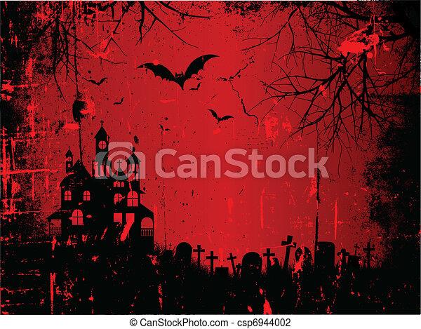 De fondo Grunge Halloween - csp6944002