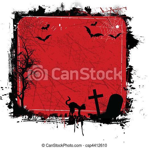 Grunge halloween - csp4412610