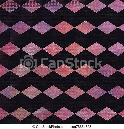 Grunge hand painted pink abstract textured background - csp76654828