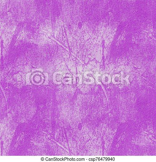 Grunge hand painted purple abstract textured background - csp76479940