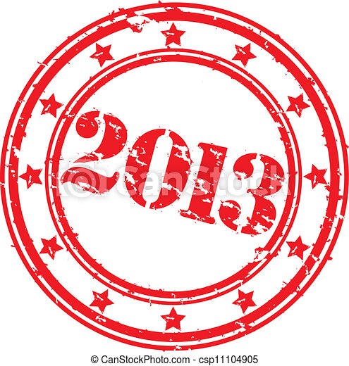 Grunge happy new 2013 year, vector - csp11104905