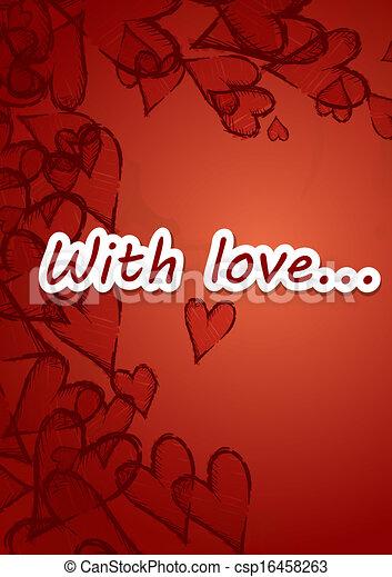 Grunge Heart Background. - csp16458263