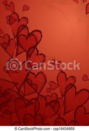 Grunge Heart Background. - csp16434959