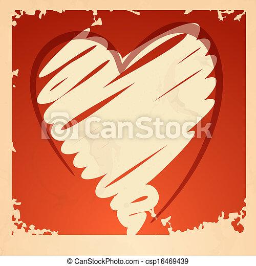 Grunge Heart Background. - csp16469439
