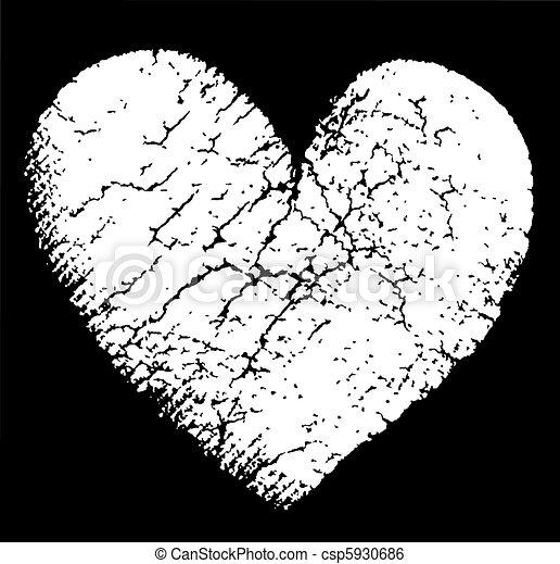 grunge heart  - csp5930686