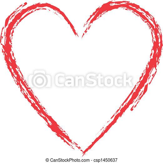 Grunge heart - csp1450637