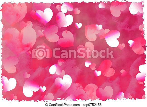 Clip Art Line Of Hearts : Grunge hearts faded abstract background design with