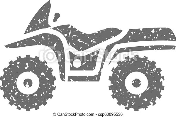 Grunge icon - All terrain vehicle - csp60895536