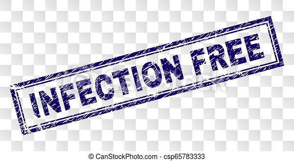 Grunge INFECTION FREE Rectangle Stamp - csp65783333
