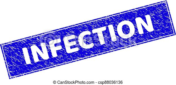 Grunge INFECTION Textured Rectangle Stamp - csp88036136