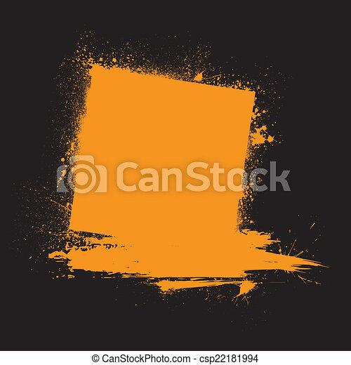 Grunge ink blots orange - csp22181994