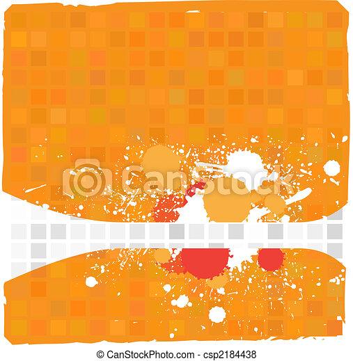 Grunge ink splat on colorful tiles - csp2184438