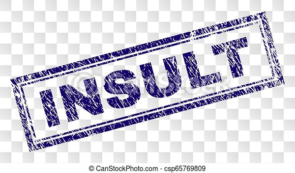 Grunge INSULT Rectangle Stamp - csp65769809