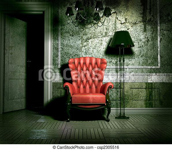 grunge interior - csp2305516