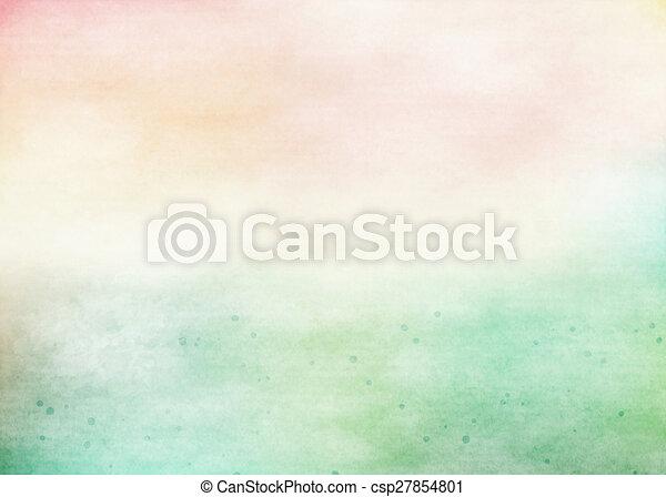grunge, kleurrijke, watercolor., textuur, achtergrond., zacht - csp27854801